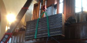 pipe organ protection during refurbishment